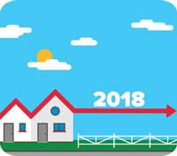 Prognos: Mindre fall eller utplaning på bostadsmarknaden 2018