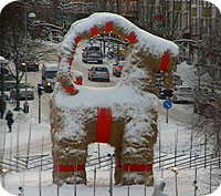 Julbocken i Gävle brinner om börsen går upp i december?