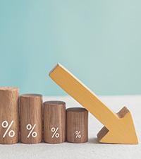 Bankernas bolåneräntor sjönk under 2020