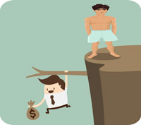 Sexiga män gör att andra män tar större risker med pengar!